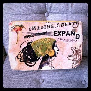 Papaya Clutch Travel Makeup Bag